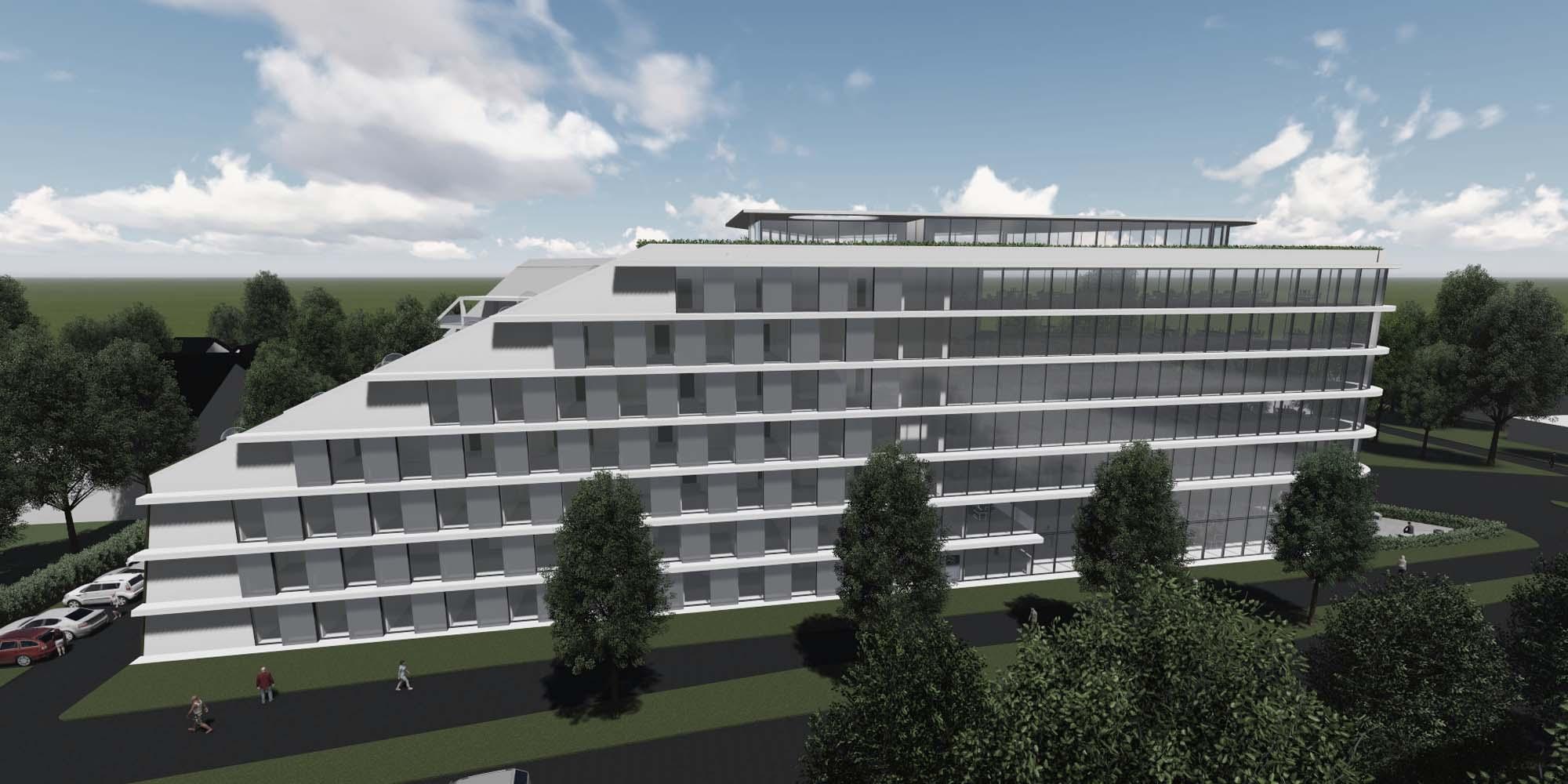 hotel und b rogeb ude germering architekturb ro hoffmann amtsberg. Black Bedroom Furniture Sets. Home Design Ideas